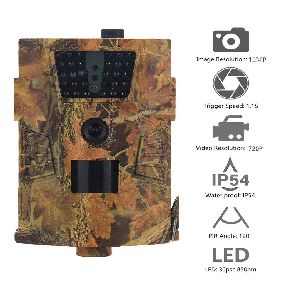 Goujxcy HT-001B caméra de sentier 30 pièces 850nm infrarouge led chasse caméra Scout étanche 120 degrés caméra photo pièges caméra sauvage
