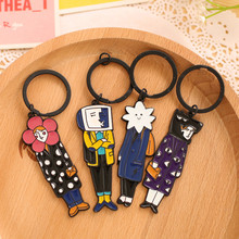 Free Shipping 1pcs 10cm Metal Creative Lovely Sportsman Pendant Keychain Action Figures With Keychain For Kids Gift