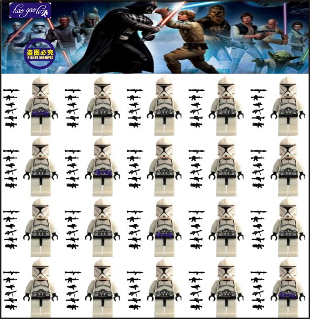 HAOGAOLE 300pcs  White Storm Trooper Clone Solider Assemble Building Blocks Kids Education Learning Baby Toys-in Blocks from Toys & Hobbies    1