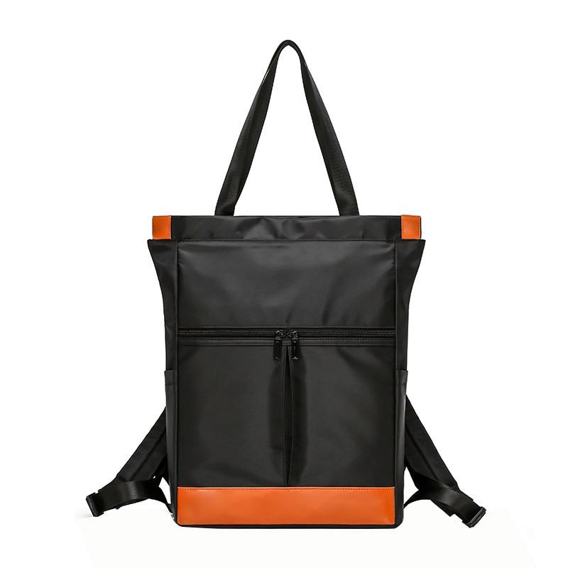 Nylon Waterproof 15.6 Laptop Backpack Women Large Capacity Ladies Hand Double Shoulder Bags Female Bagpack Satchel Travel Bags