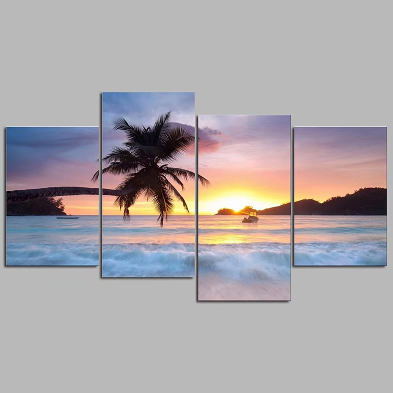 DIY Diamond Painting Beach scenery Embroidery full round beach landscape diamond painting Square