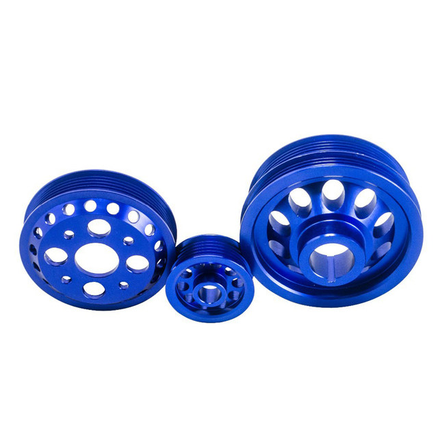 Online Shop Free Shipping Blue Light Weight Crank Pulley For Nissan
