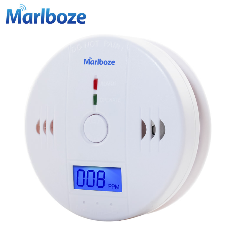 Fire Alarm Detector - Home Security Warning High Sensitive LCD  Photoelectric Independent CO Gas Sensor Carbon Monoxide Poisoning Alarm  Detector