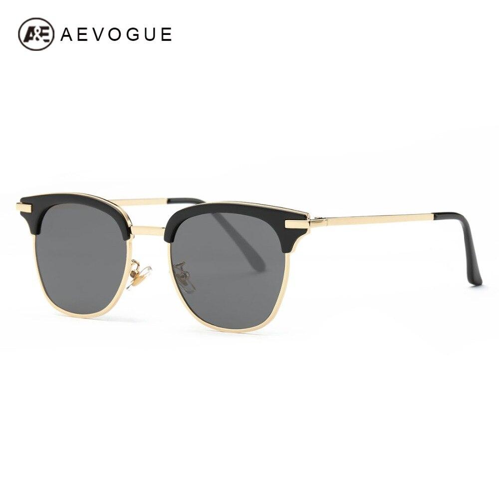 6f8ec84f89fd76 Aevogue lunettes de soleil femmes date marque designer alliage temple  semi-sans monture cadre lunettes de soleil vintage avec la boîte uv400  ae0404