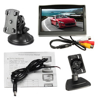 5 Inch Car Auto Display Rear View Backup Monitor TFT LCD HD Digital 5 3 800