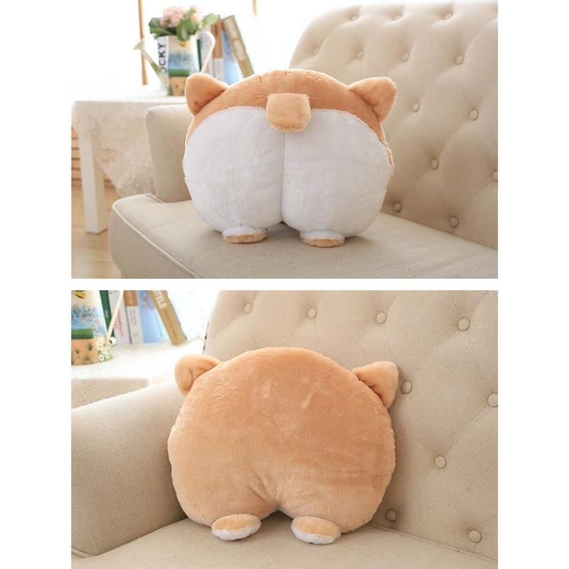 Novelty Corgi Bottom Warm Hand Pillow Dog Buttocks Hand Cushion Plush Pillow
