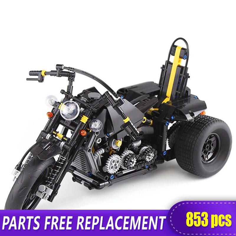 Xingbao 03020 Techinc Blocks Toys 853pcs Heavy Motorbike Bricks Compatible with LOGO MOC Blocks Motorbike Building