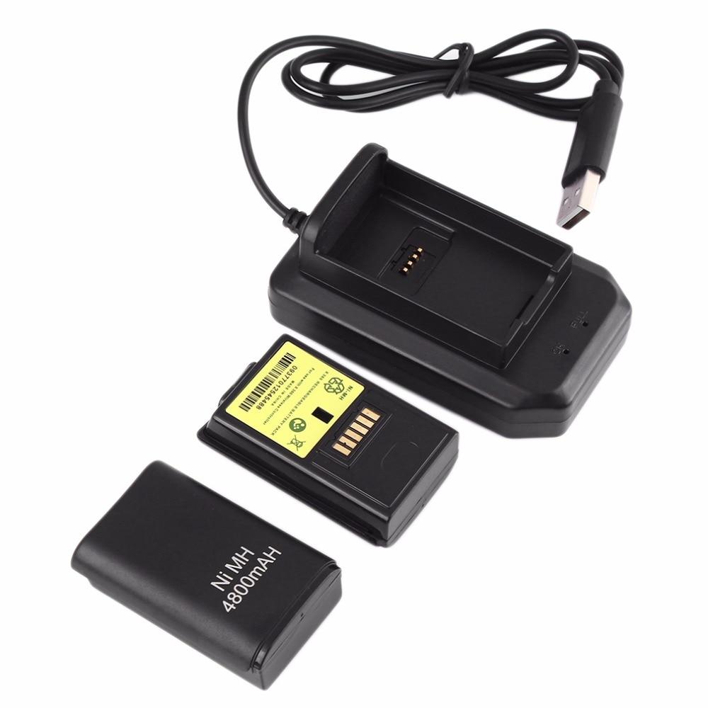 Professionelle Ladegerät Dock 4 In 1 Multifunktionale Wireless Game Controller Dock Akku 4800 Mah Geeignet Für Xbox 360 StäRkung Von Sehnen Und Knochen Videospiele Batterien & Akkus