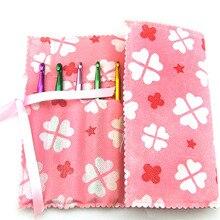 14 слотов крючком мешок ремесло Чехол Органайзер корзины для хранения розовый четырехлистный клевер путешествия швейные инструменты Швейные аксессуары