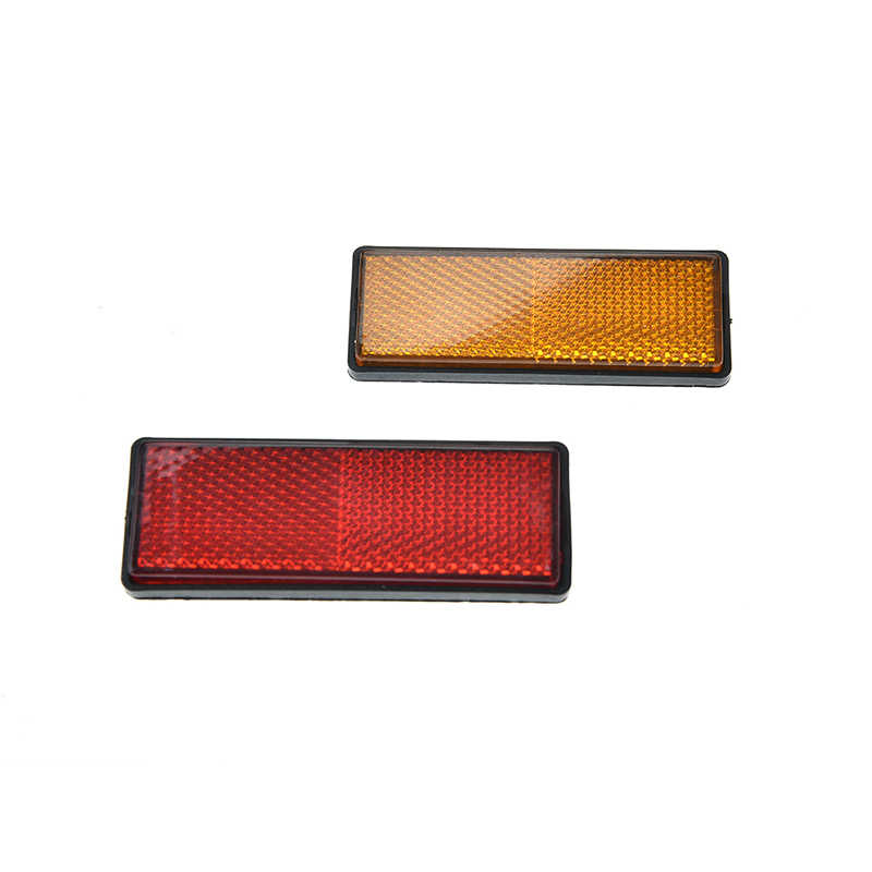 87x32x9mm Back Reflective Board Mountain Bicycle Rack Tail Safety Warning Lamp Cycling Bike Rear Reflector Light Red Orange