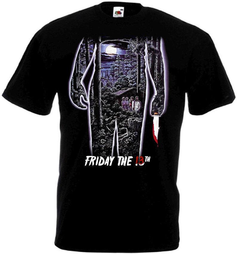 Friday The 13 v35 T-Shirt all sizes S-5XL BLACK