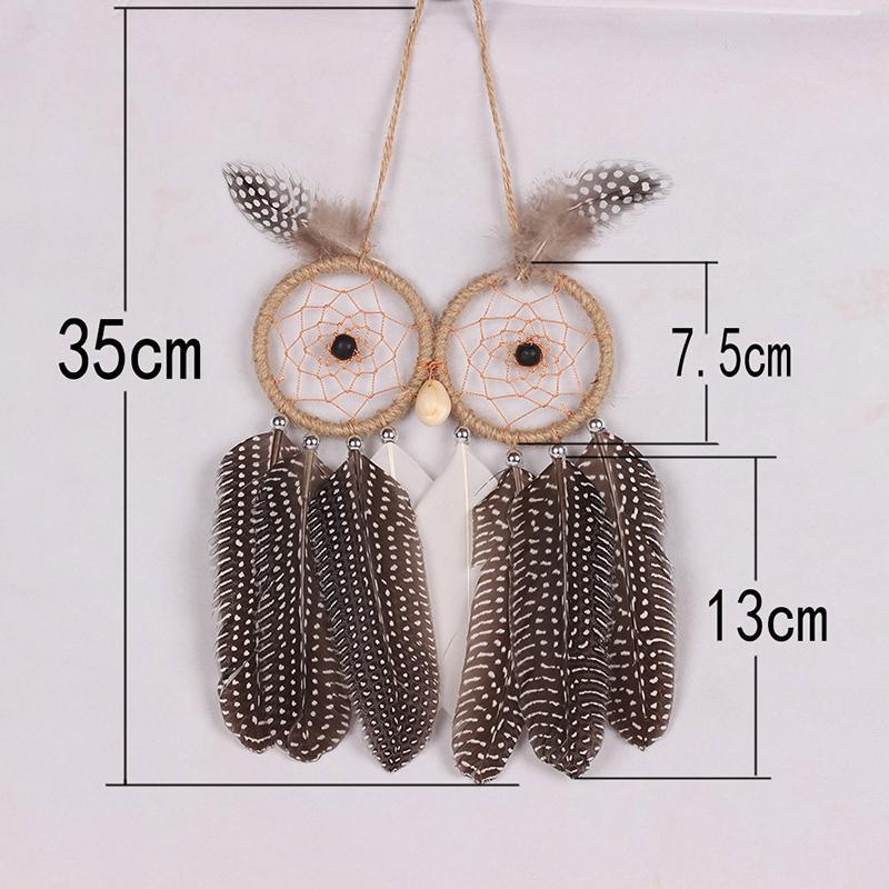 MS8069 OWL lələk naxışları Dream Catcher Divar asma Dekorasiya - Ev dekoru - Fotoqrafiya 6