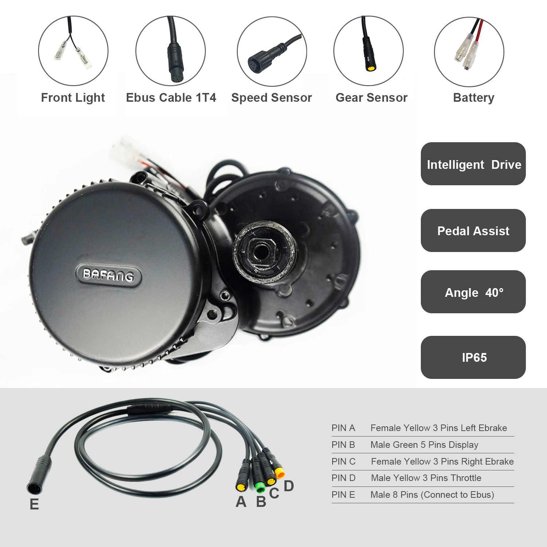 Bafang BBS02B 36V 250W Mid Drive Motor Electric Bike Conversion Kit DPC18 850C P850C 500C C965 Display E Bicycle 8fun BBS02