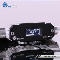 B VGA SC AL Bykski GPU card Digital Display Water Temperature Water Cooler System G1/4'' Thermometer Sensor real time
