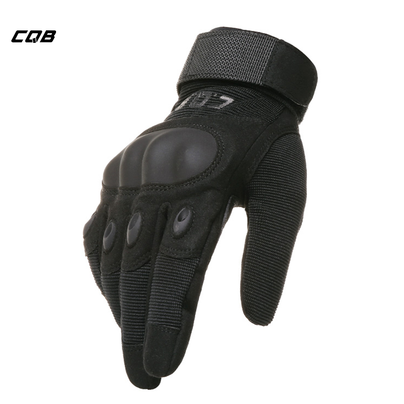 CQB Outdoor Sports Tactical Military Gloves Protect Microfiber Men's Motorcycle Gloves for Hiking Climbing Training Cycling