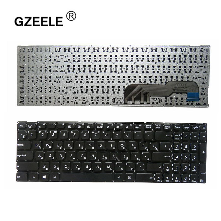 GZEELE RUSSIA Black laptop keyboard for ASUS S3060 SC3160 R541U X441SC X441SA X541N X541NA X541NC X541S X541SA X541SC RU black-in Replacement Keyboards from Computer & Office on