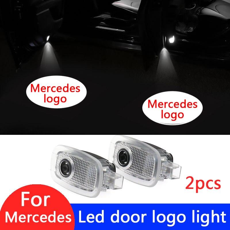 2pcs Car Door Logo LED Projector Light For Mercedes Benz S Class W221 2006-2013