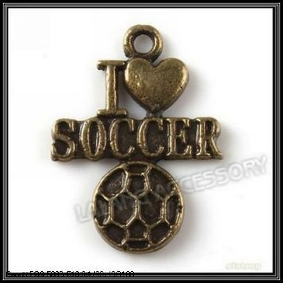 New Arriva!!!180pcs/lot Alloy Soccer Ball Pendants Antique Bronze Charms Fit Jewelry Making 22x16x2mm 140805