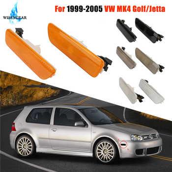 Front Side Marker Lights Turn Signal Lamp Indicators For Volkswagen VW Golf 4 Jetta MK4 1999-2005 Blinker Yellow Black Lens / - DISCOUNT ITEM  15% OFF All Category