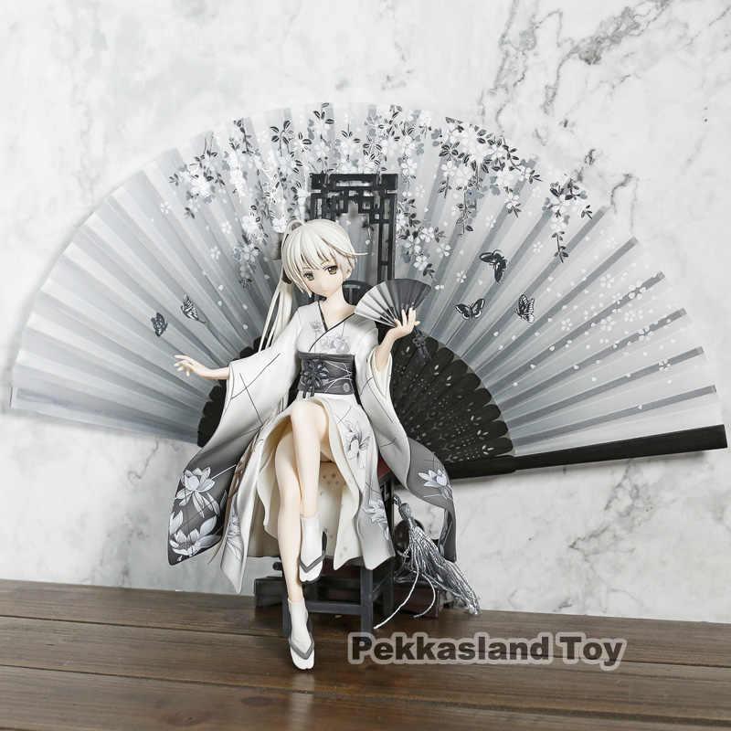 Alta qualidade edição anime figura animate yosuga sem sora kasugano sora quimono ver pvc figura de ação modelo coleção brinquedos