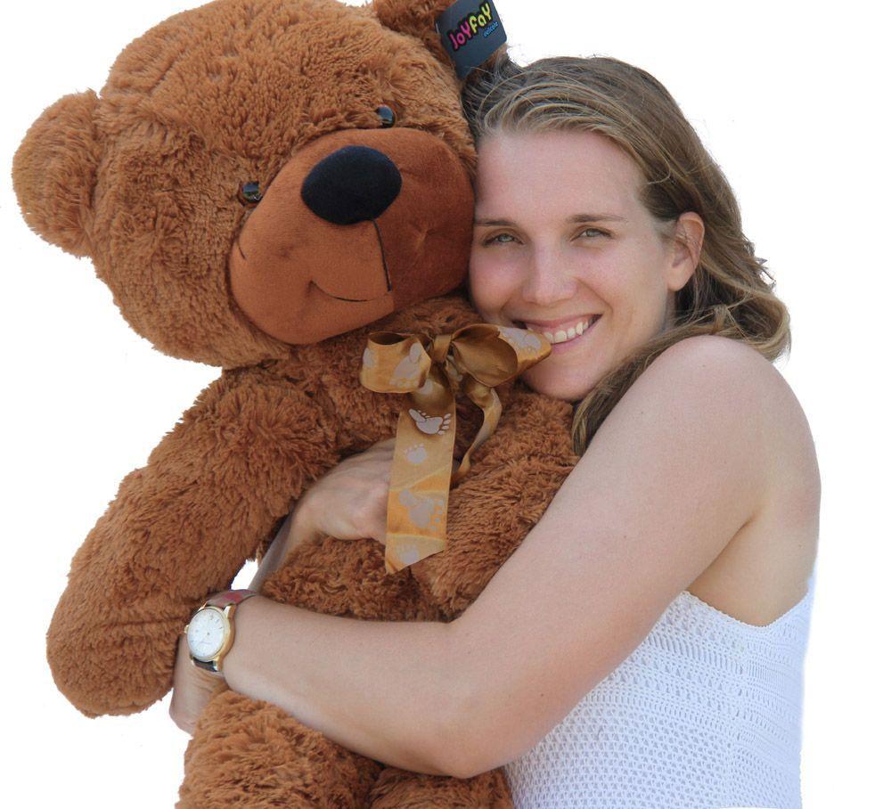 Joyfay 100cm 1m 39 Brown Giant Teddy Bear Big Stuffed Plush Animal Huge Soft Toy Best gift for Birthday Valentine Anniversary giant big cute plush stuffed teddy bear soft toy gift best birthday gift 130cm