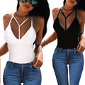 2017 European Style Women New Ladies Sexy Club Top Crop Solid Bodycon Cotton Black White Tank Top Women Vest Tops haut femme