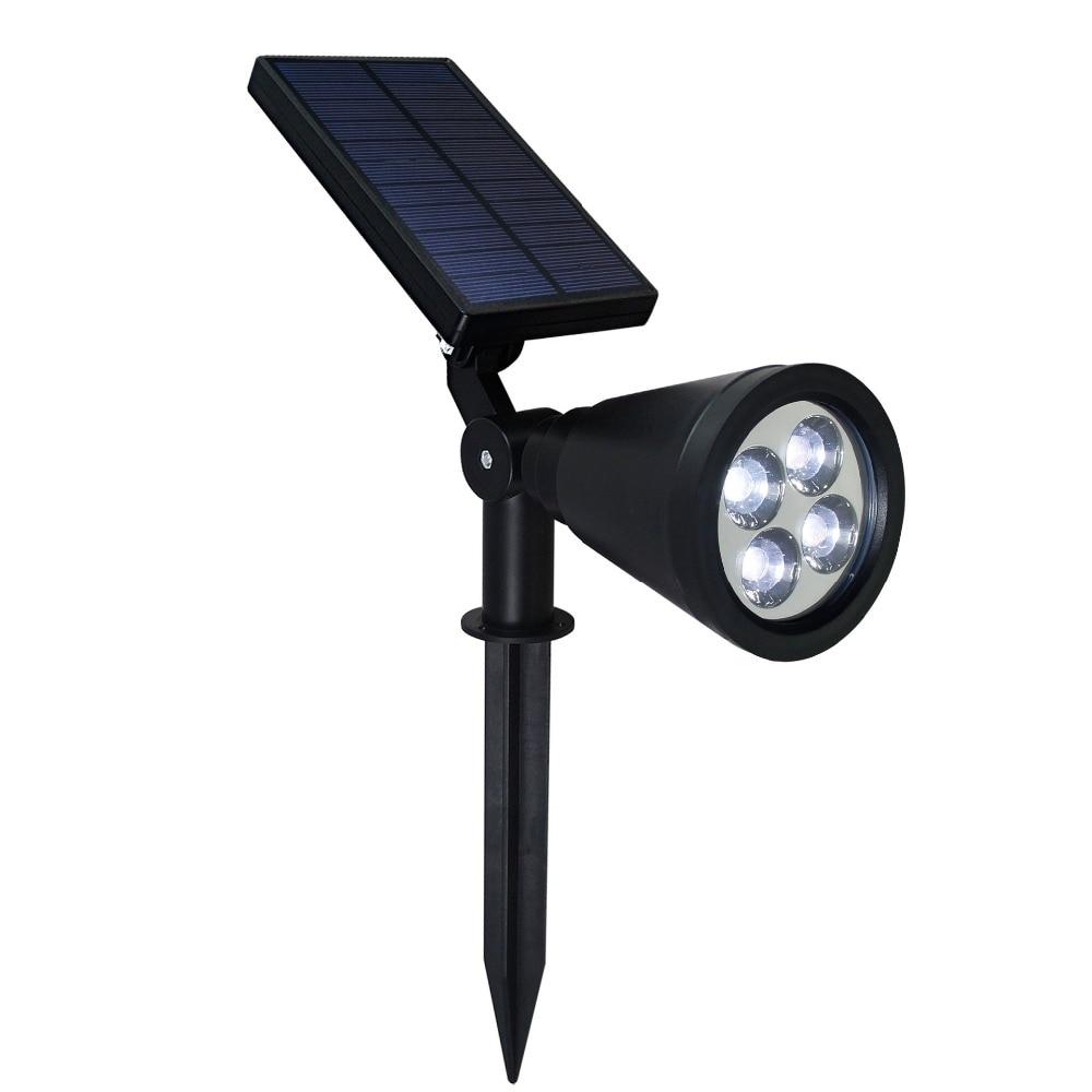 2017 New Solar Power In-ground Lights Spotlights Adjustable Waterproof outdoor
