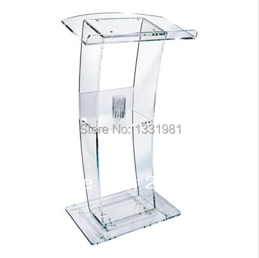 Free Shipping High Quality Price Reasonable Cheap Clear Acrylic Podium Pulpit Lectern  Acrylic Lectern