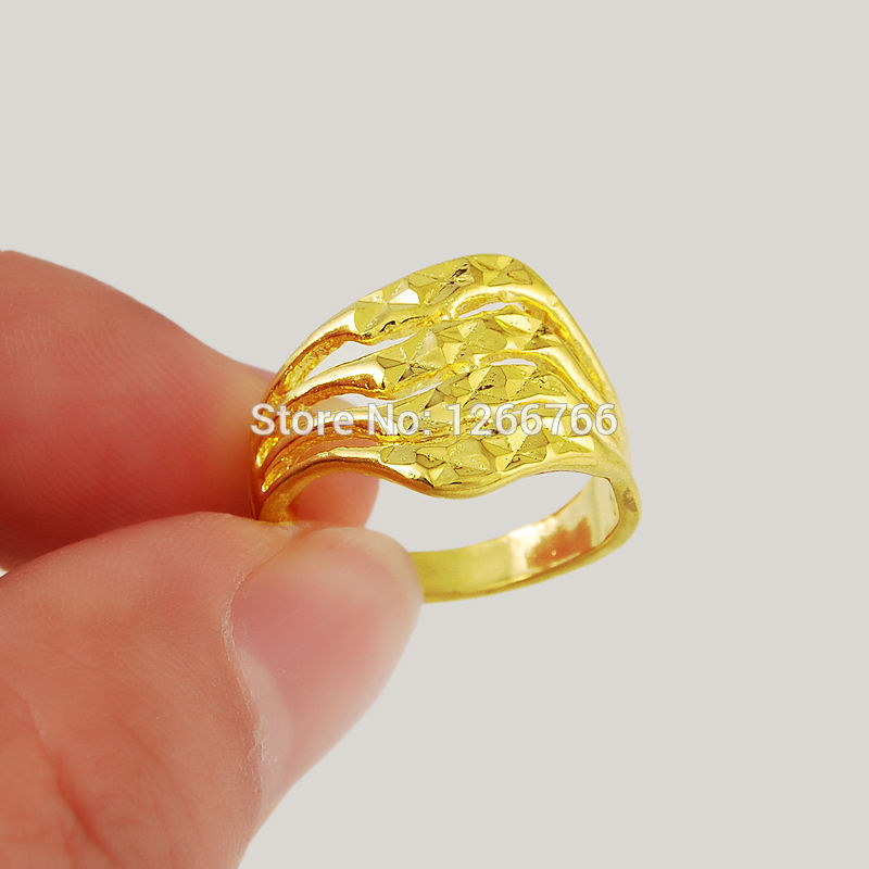 24KR2 Free Shipping Factory Wholesale Price 24k gold Ring women ...