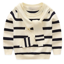 Hot Sale Fashion Kids Sweater Baby Boys Sweater Children Autumn Winter Spring Sweater Kids Striped Printed Sweater 2 Color