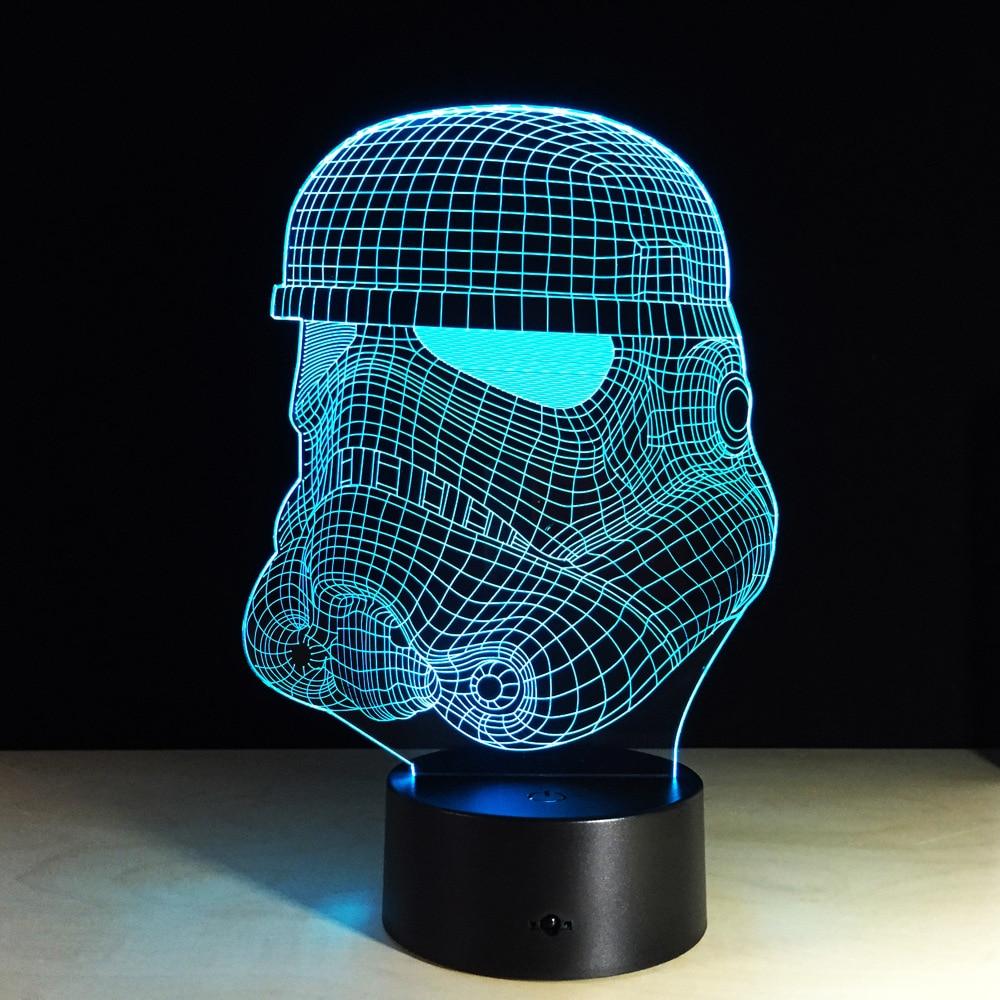 Creative Star Wars Clone Storm Troopers 3d Night Light 7