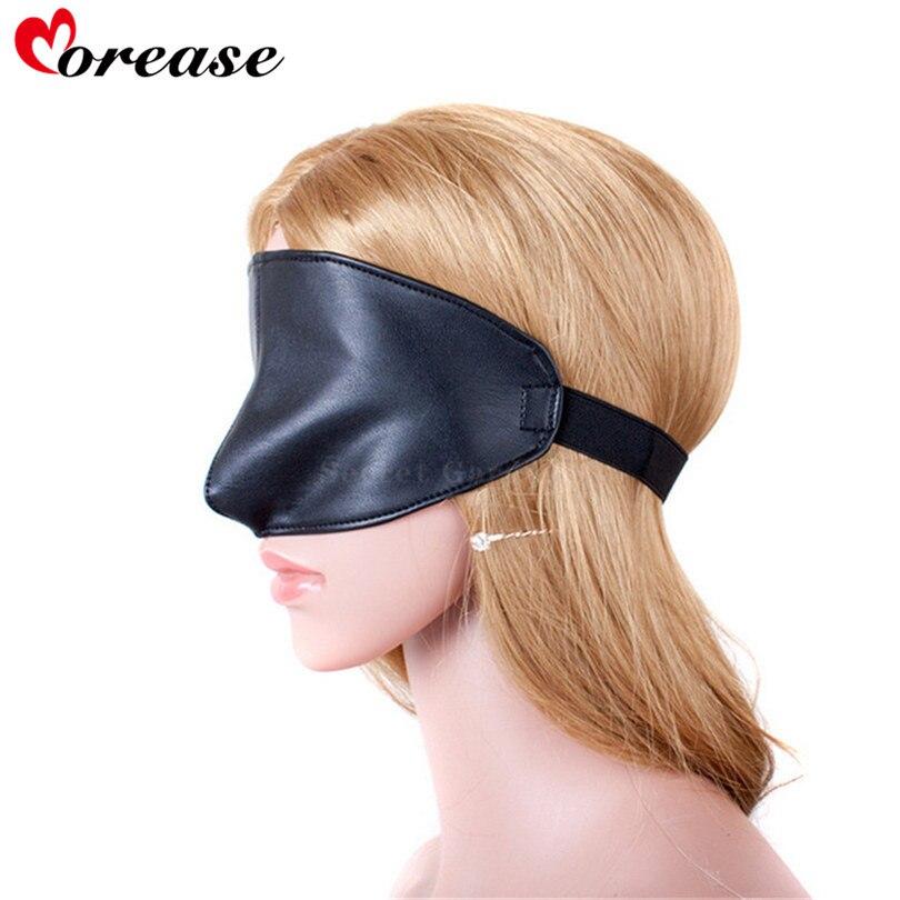 Morease Blindfold Sexy Leather Eye Mask Bdsm Restraints Fetish Slave Erotic Cosplay Bondage Adult Game Sex Toys Product