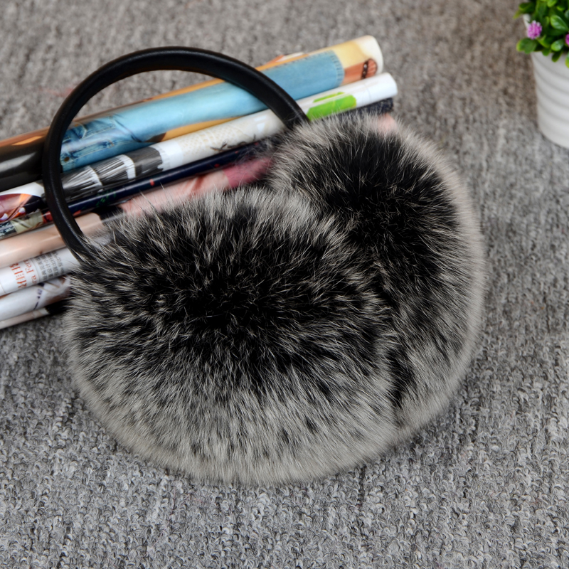 Fur Headphones New Natural Leather Headphones Korea Full Leather Genuine Fox Fur In-ear Earmuffs To Keep Warm Real Fur Headphone