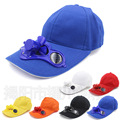 Solar energy fan baseball cap snapback hat hip hop solar power snapback men women adjustable snapback