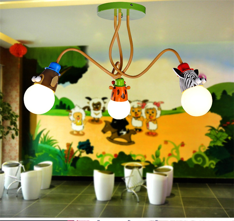 LED cartoon children bedroom bedroom ceiling light animal creative ceiling light boy and girl warm 3 5 head kindergarten creative cartoon ceiling lamp smd led electrodeless dimmable air plane shape light study children boy girl room bedroom