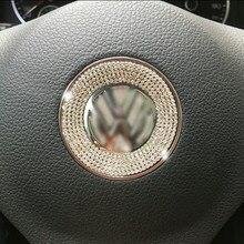 Auto di cristallo decorazione del volante per volkswagen cc golf 7 POLO Passat CC Tiguan Lavida lamando accessori interni