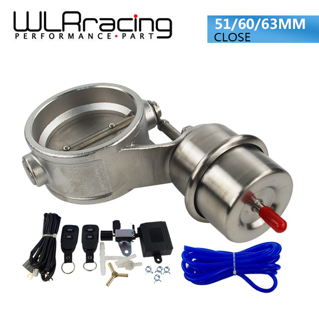 WLR RACING - NEW vacuum Activated Exhaust Cutout 251MM or 2.460mm or 2.563mm Close Style with Wireless Remote Controller Set