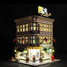 Led Light For Lego 10211 Building Blocks Grand Emporium Compatible 15005 Bricks Creator City Street toy( light with Battery box)