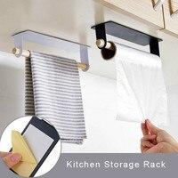 Organizador de cocina de montaje en pared, soporte de madera para estante de toalla, rollo de papel de baño, almacenamiento de toallas, estante de gabinete, soporte de trapo