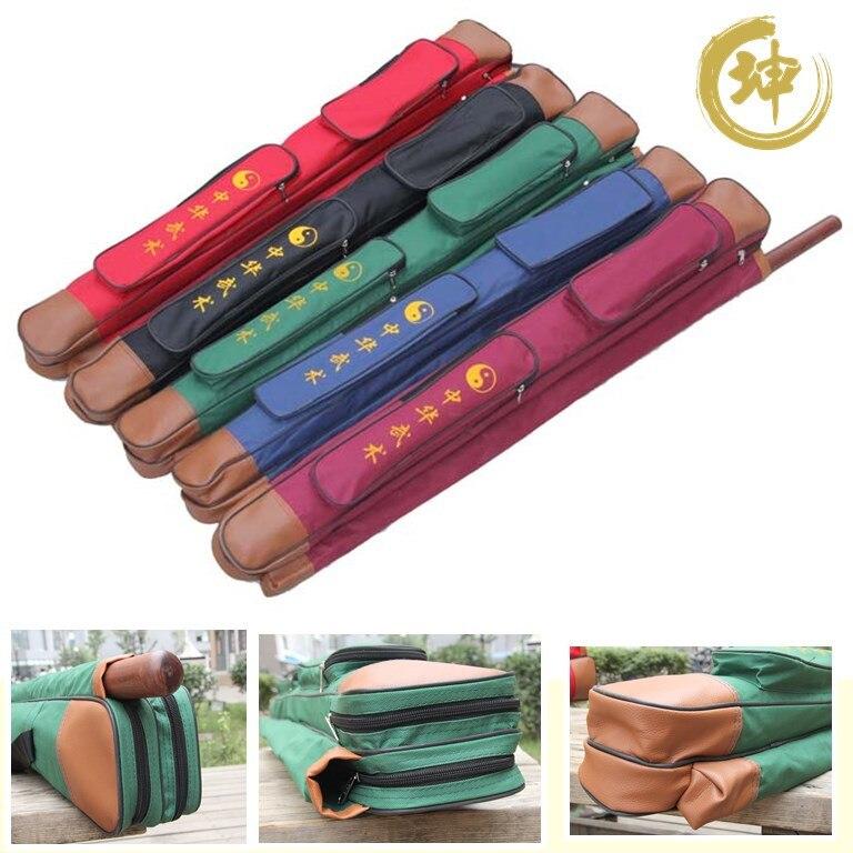 [Chinese Kun]Double layers tai chi  multifunctional sword bag   lengthen is 108cm having stick bag thickening  sword bags|sword bag|tai chi|tai chi sword bag - title=