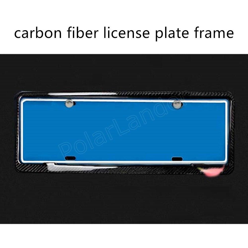 Haute qualité 2 pièces avant arrière en Fiber de carbone plaque d'immatriculation cadre porte-couvercle pour voitures universelles 46.5x17 cm