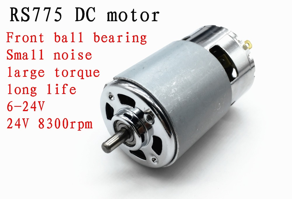 Rs775 dc motor front ball bearing motor small noise large for Small dc fan motor