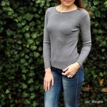 Round Neck Autumn Knitted Sweater