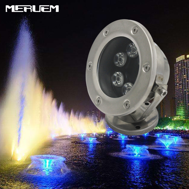 Rgb Led Pool Light Ip68 Dc12v 6w Stainless Steel Led Underwater Light Swimming Pool Led Light