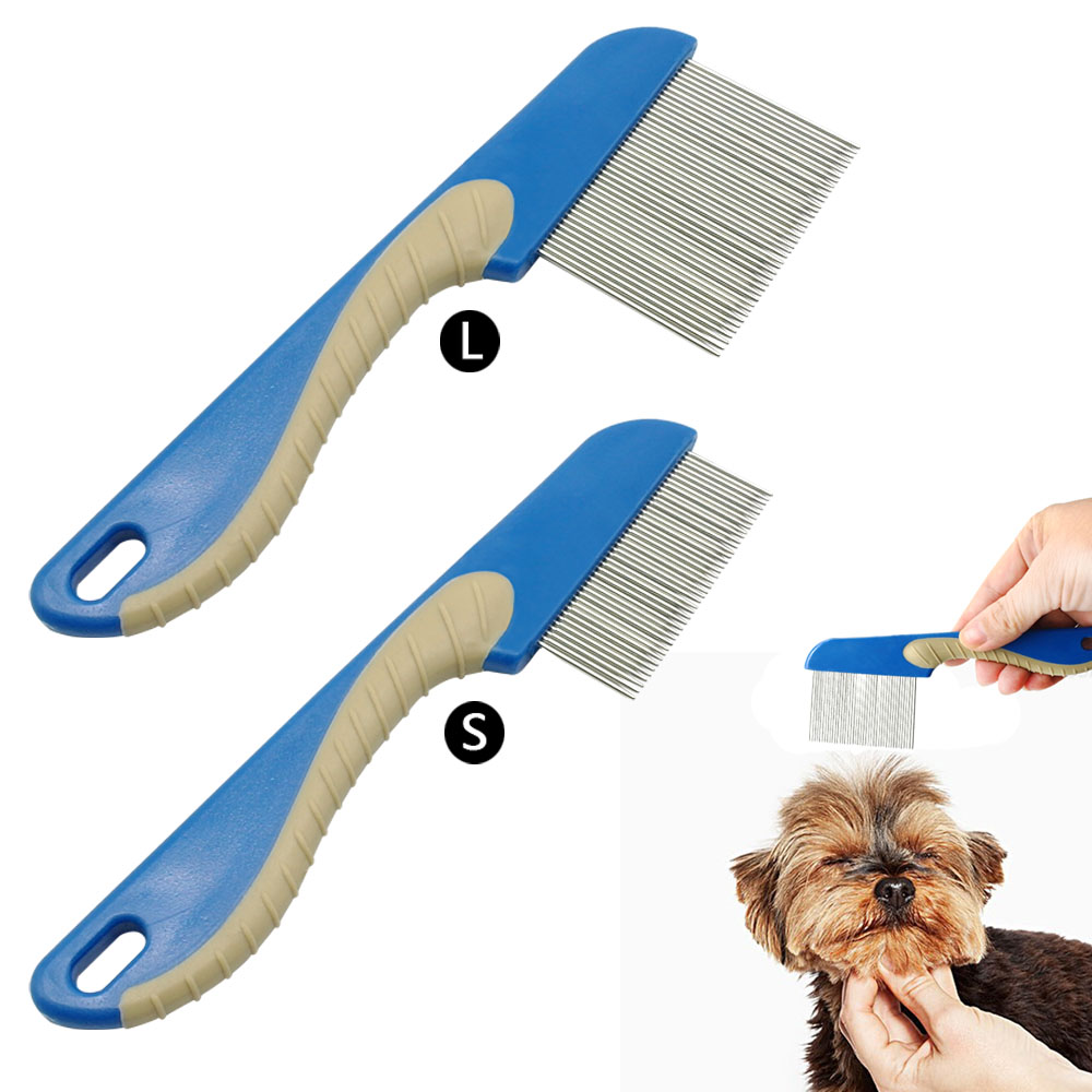 Cat Comb Brush Dog Flea Comb Remove Fleas Stainless Steel Puppy Cats Hair Fur Grooming S ...