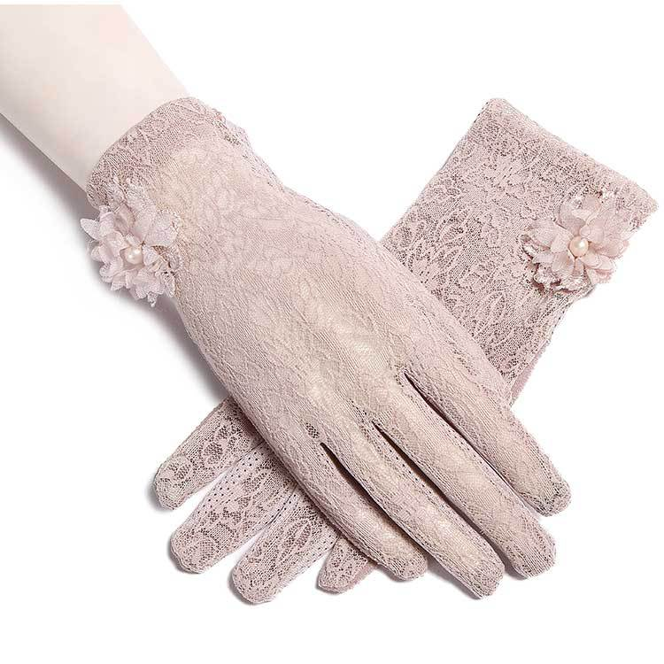 2018 New Sunshade Gloves, Ladies' Summer Outdoor Riding Gloves, Touch Screen Lace Gloves.