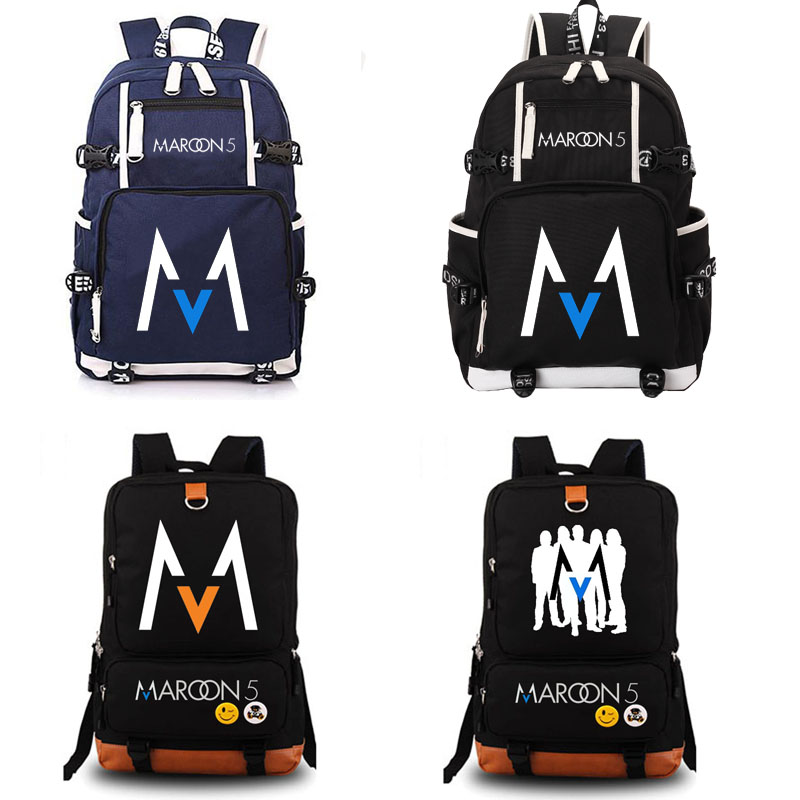 Maroon 5 Rock Band school bag noctilucous backpack student school bag Notebook backpack Daily backpack