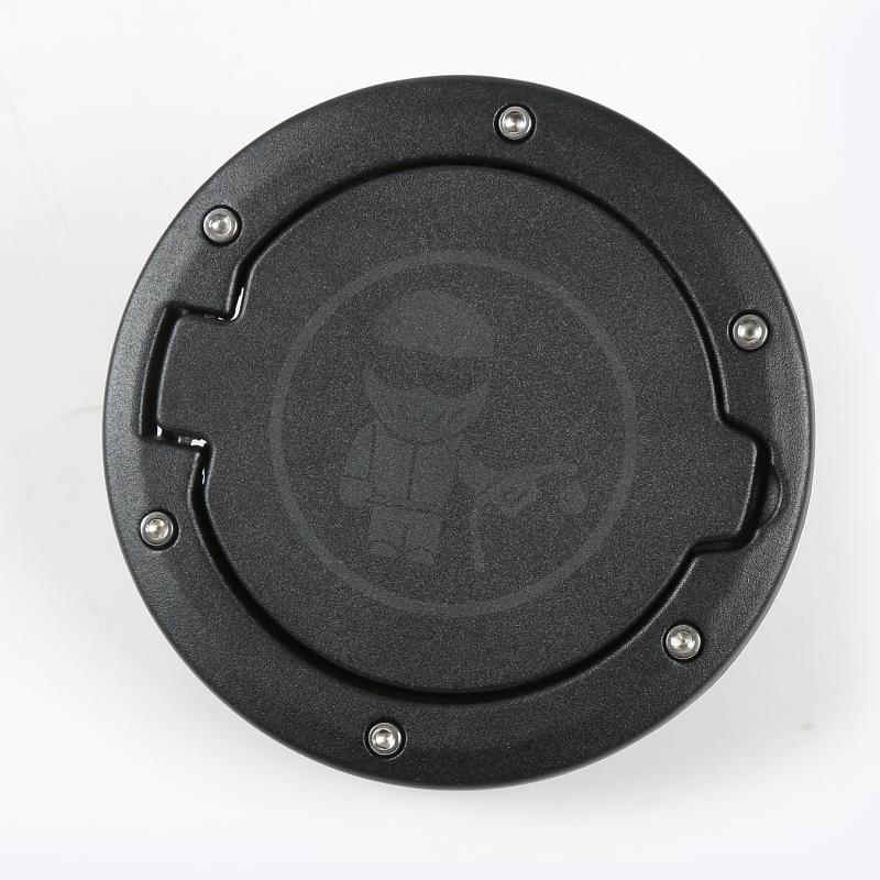 Accessories Black Coated Steel Gas Fuel Tank Gas Cap Cover