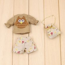 Blyth pequeña muñeca ropa 6 dulces licca Lijia SD muñeca vestido de pantalón bolsa 3 unids
