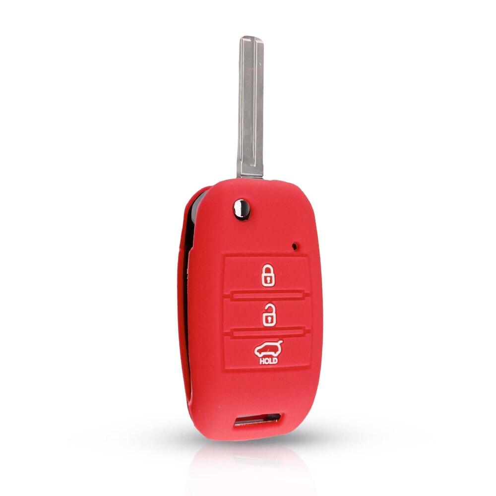 KEYYOU силиконовый откидной складной чехол для ключа автомобиля для KIA Sid Rio Soul Sportage Ceed Sorento Cerato K2 K3 K4 K5 чехол для дистанционного управления